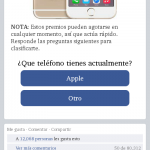 Landing Page sorteo iphone