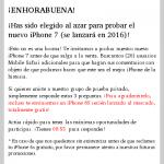 Panding page de sorteo iphone 7