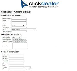 clickdealer formulario