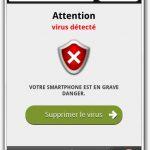 landing page virus (France)