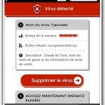 Landing page virus francia