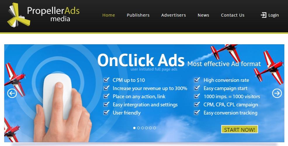 Propeller ads web