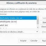 Cambio de idiomas en Firefox