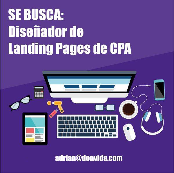 Se busca diseñador de Landing Pages de CPA